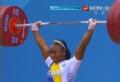 奥运视频-里瓦斯挺举125kg成功 举重女子58kg级