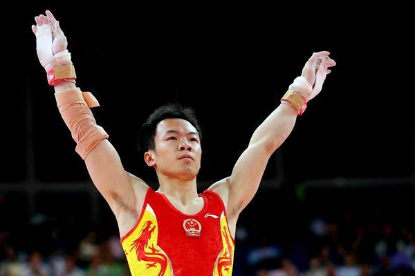 奥运图:男子体操决赛打响 郭伟阳不负众望