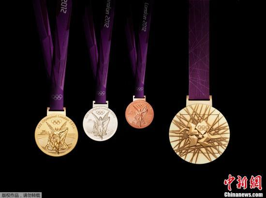 资料图:伦敦奥运会奖牌。