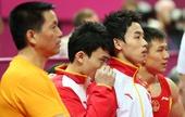 奥运图:中国体操男团夺冠 看比赛有点怕