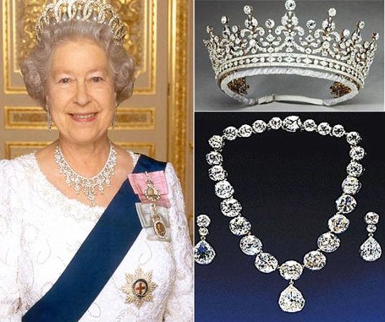 揭秘英国女王的财产之谜 天价珠宝盘点(组图)