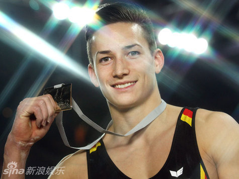 资料图:德国体操帅哥Marcel Nguyen