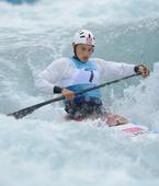 奥运图:激流回旋男子单人划艇 中华健儿破风浪