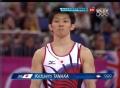 奥运视频-日本选手自由操现失误 体操男团决赛