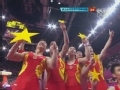 奥运视频-中国男团场边庆祝 拼成五星红旗图案