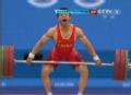 奥运视频-张杰成功抓举145kg 裁判判决犯规无效