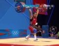 奥运视频-比尔金抓举165kg成功 举重男子62kg级