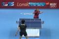 奥运视频-丁宁发球变斜线长球 女乒单打四强赛