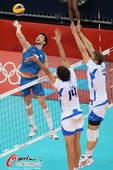奥运图:意大利男排胜阿根廷 意大利队双人拦网