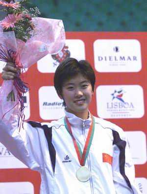 2002年世锦赛 谭雪女子佩剑夺冠