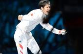 奥运图:雷声夺男子花剑金牌 疯狂庆祝