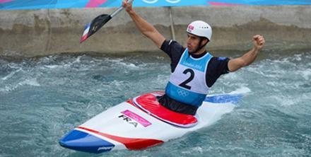 男子单人皮划艇激流回旋冠军 托尼-埃斯坦盖