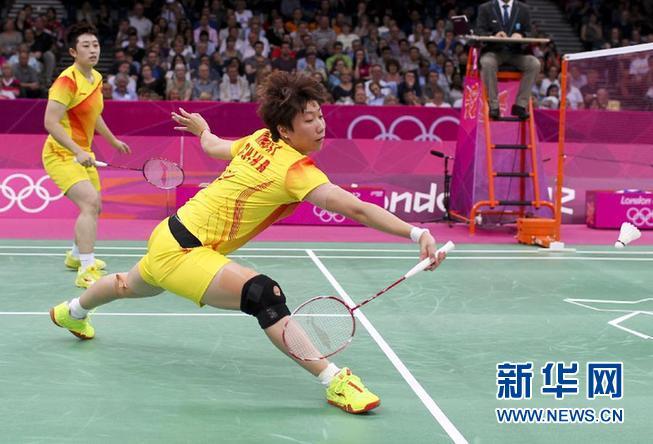 羽毛球女双:于洋/王晓理不敌韩国组合7月31日,于洋/王晓理右在比赛中。