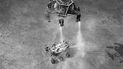 """""""好奇""""号火星车登陆火星的模拟动画"""