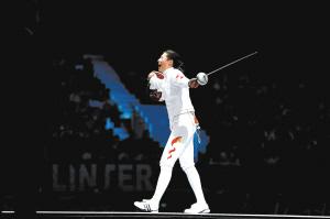 中国选手孙玉洁在获胜后庆祝 新华社 图