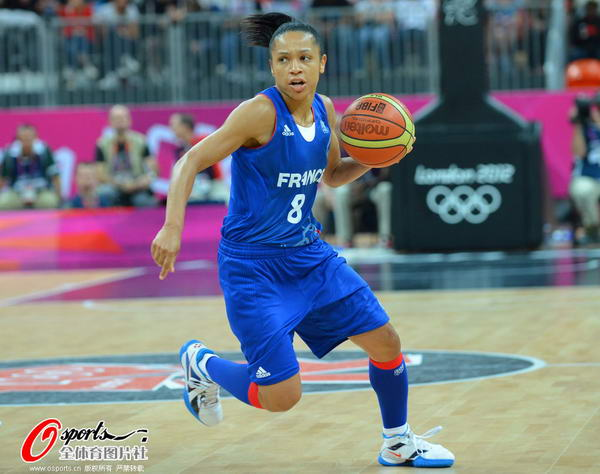 奥运图:法女篮提前出线 流畅的运球