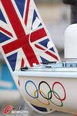奥运图:帆船帆板赛海涛逐浪 英国帆船