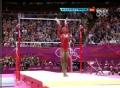 奥运视频-美选手高低杠空中转体 女团体操决赛