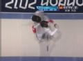 奥运视频-巴尔迪尼背身刺击 花剑意大利VS韩国