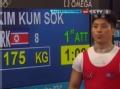 奥运视频-金今锡挺举175kg成功 举重男子69kg级