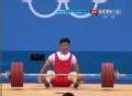 奥运视频-文俊熙挺举180kg失败 举重男子69kg级