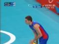 奥运视频-维索托2号位扣杀 俄罗斯双人拦网出界