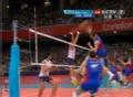 奥运视频-德米特里网前截击 男排巴西VS俄罗斯