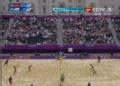 奥运视频-薛晨扣杀对方垫出界 沙排女子小组赛