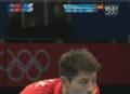 奥运视频-张继科反手抽斜线球 男乒单打1/4决赛