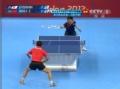 奥运视频-王浩直板横打搬一球 男乒单打8强决赛