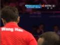 奥运视频-王皓直板反抽得分 男乒单打8强决赛