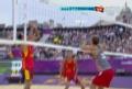 奥运视频-中国队砸线球得分 男子沙排小组赛