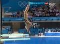 奥运视频-第二轮秦凯稍有失误 男双3米跳板决赛