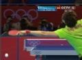 奥运视频-李晓霞反拉直线强攻球 女乒单打决赛