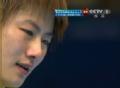奥运视频-丁宁发球失误连遭判罚 表情无奈落泪