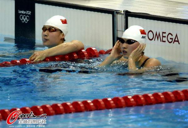 奥运图:女200蝶焦刘洋夺冠 两位中国选手
