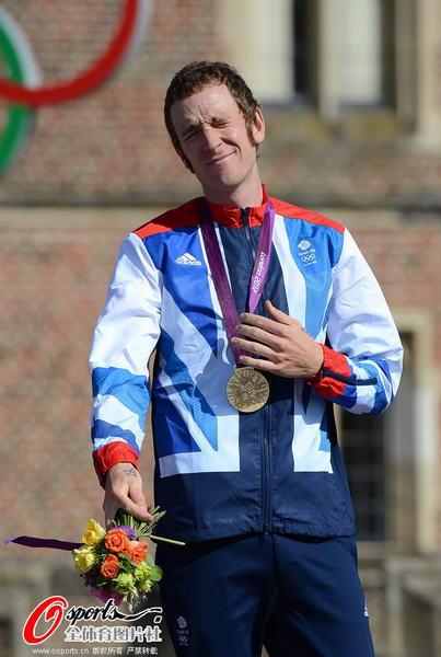 奥运图:维金斯自行车计时赛夺金 幸福地要化掉