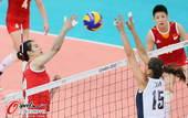 奥运图:女排小组赛中美对决 网上争抢