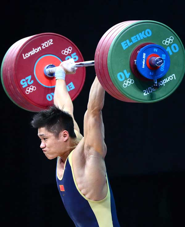 [高清]男子举重77公斤级吕小军破世界纪录夺冠