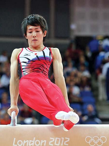 本届奥运会日本男子体操运动员加藤凌平。