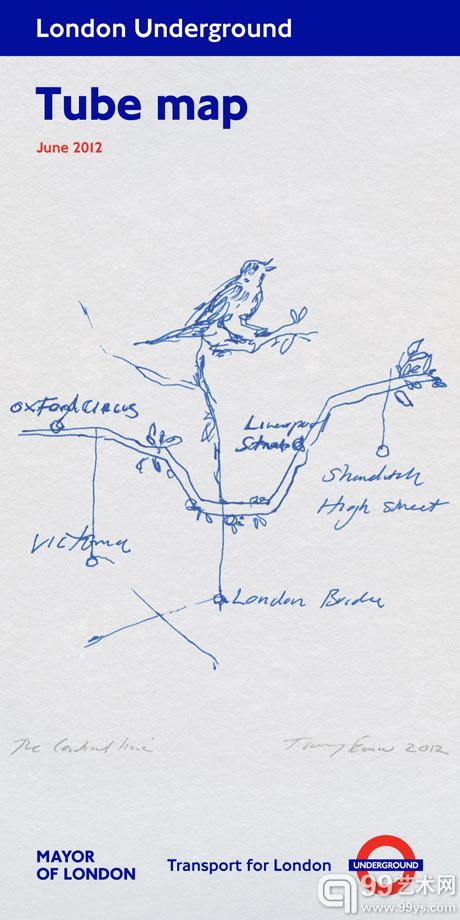 翠西-敏助力奥运 设计伦敦地铁线路图封面图片