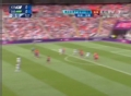 奥运视频-奥巴梅扬吊球出门框 男足韩国VS加蓬