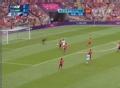 奥运视频-奥巴梅扬转身抽射 力道不足门将化解