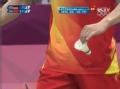 奥运视频-陈金正拍撇吊小球 茨威布勒回球挂网