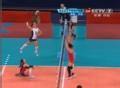 奥运视频-汤姆高空抡臂扣球 剑指空挡直逼底线