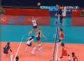 奥运视频-拉尔森接应二传扣杀 女排中国VS美国