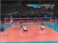 奥运视频-张磊斜线扣杀破防线 女排中国VS美国