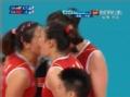 奥运视频-中国女排化守转攻 惠若琪秀完美重扣