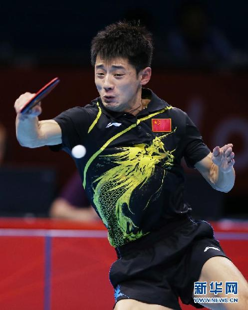 奥运:张继科4-1登顶夺大满贯 王皓连续3届亚军
