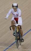 奥运图:中国自行车女团憾失金牌 中国车手